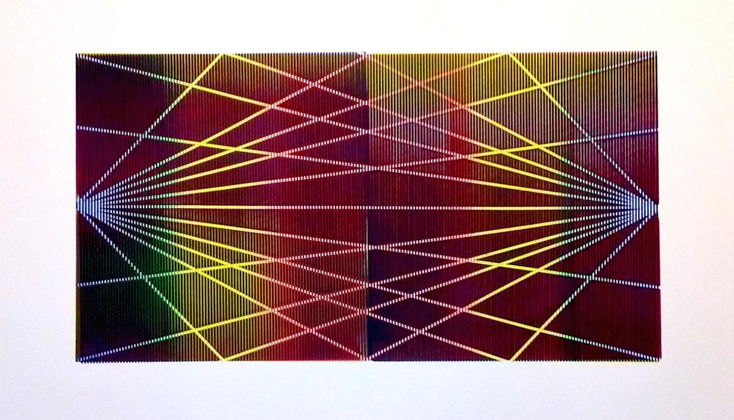 Matti Havens, Stellar Spectrum 2, 2019, Screenprint, 22x39, frame size 30x48 in