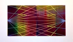 Matti Havens, Stellar Spectrum 2, 2019, Screenprint, 22x39, frame size 30x48 in