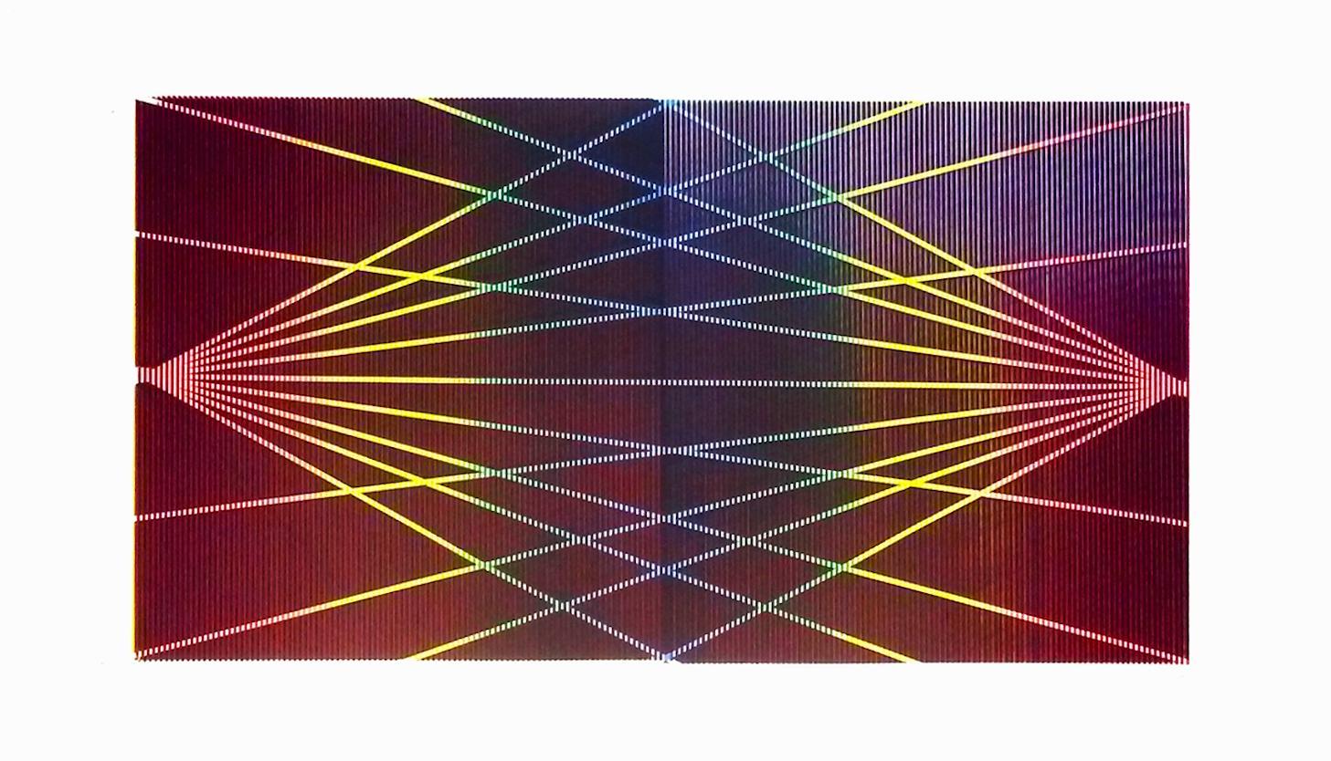 Matti Havens, Stellar Spectrum 1, 2019, Screenprint, 22x39, frame size 30x48 in
