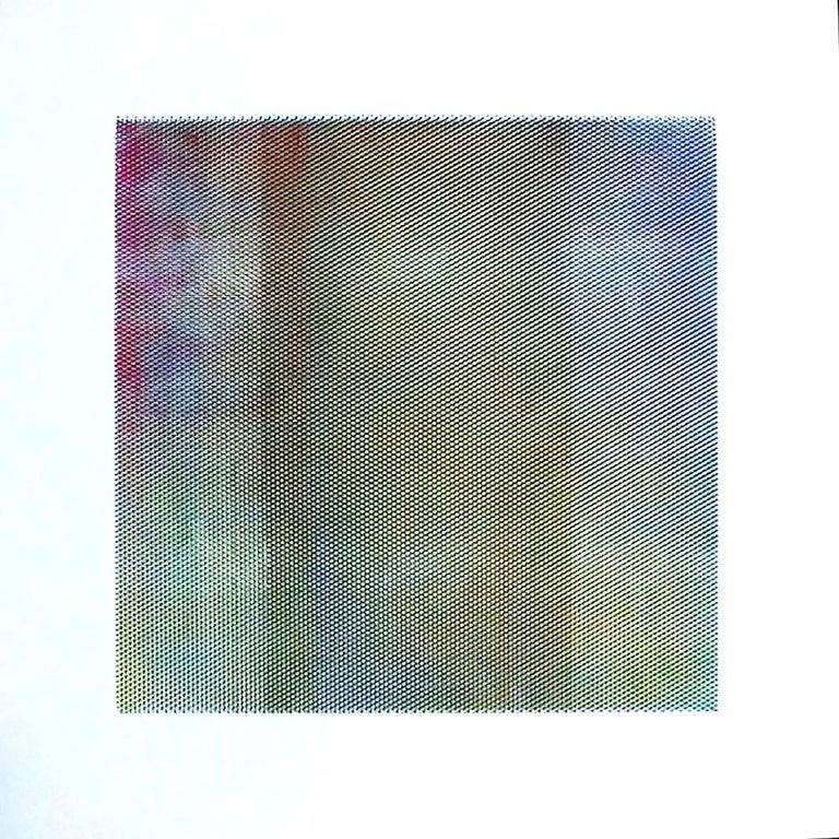 Matti Havens, Pattern Variation 1, 2018, screenprint, 19x19 in, Meditative Field - Print by Matti Havens