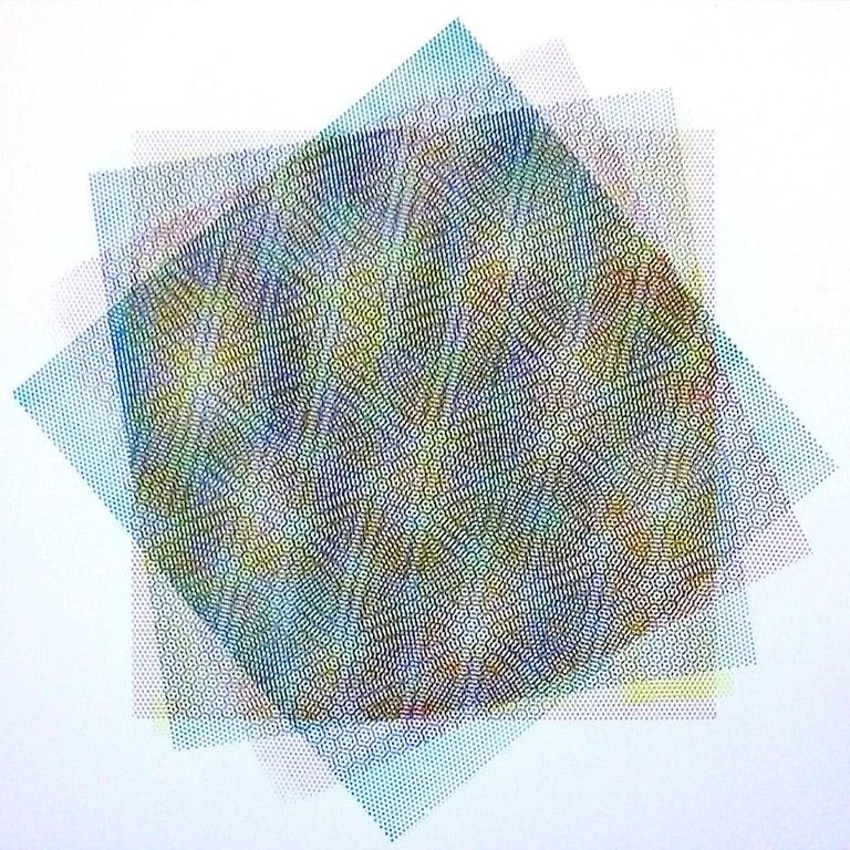 Matti Havens, Pattern Variation 1, 2018, screenprint, 19x19 in, Meditative Field - Abstract Geometric Print by Matti Havens