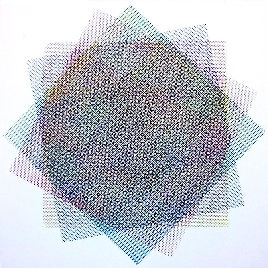 Matti Havens, Pattern Variation 3, 2018, screenprint, 19x19 in, Meditative Field