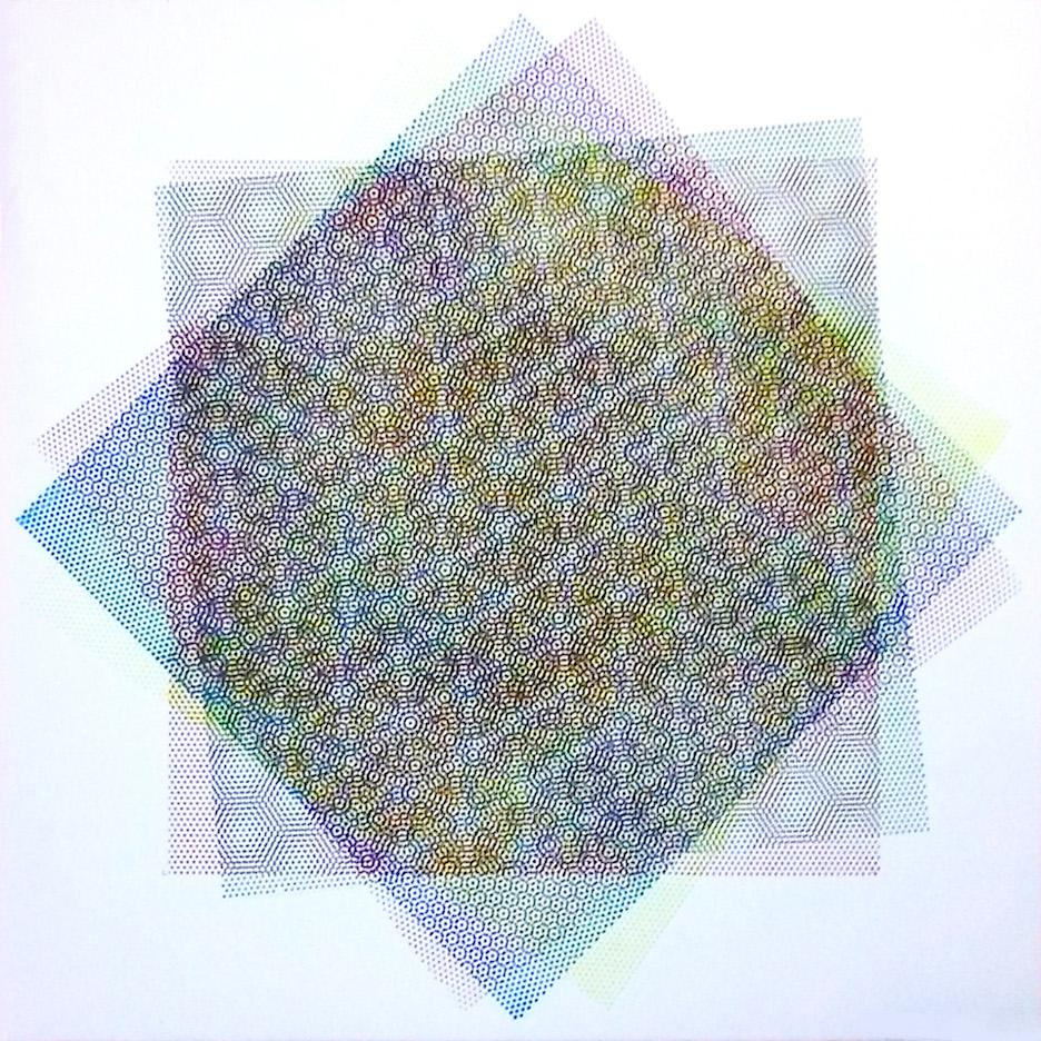 Matti Havens, Pattern Variation 5, 2018, screenprint, 19x19 in, Meditative Field