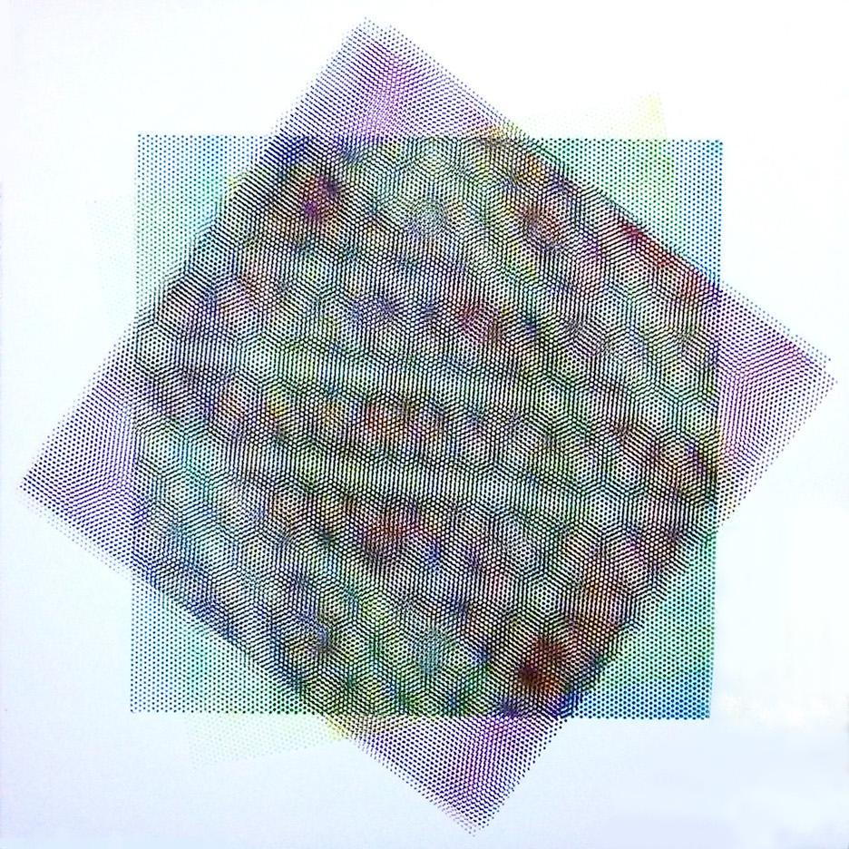 Matti Havens, Pattern Variation 6, 2018, screenprint, 19x19 in, Meditative Field