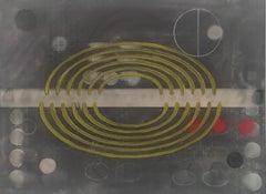 Carol Diehl, Adriana, 2011, powder pastel on Masonite, 9 x 12 inches, Abstract