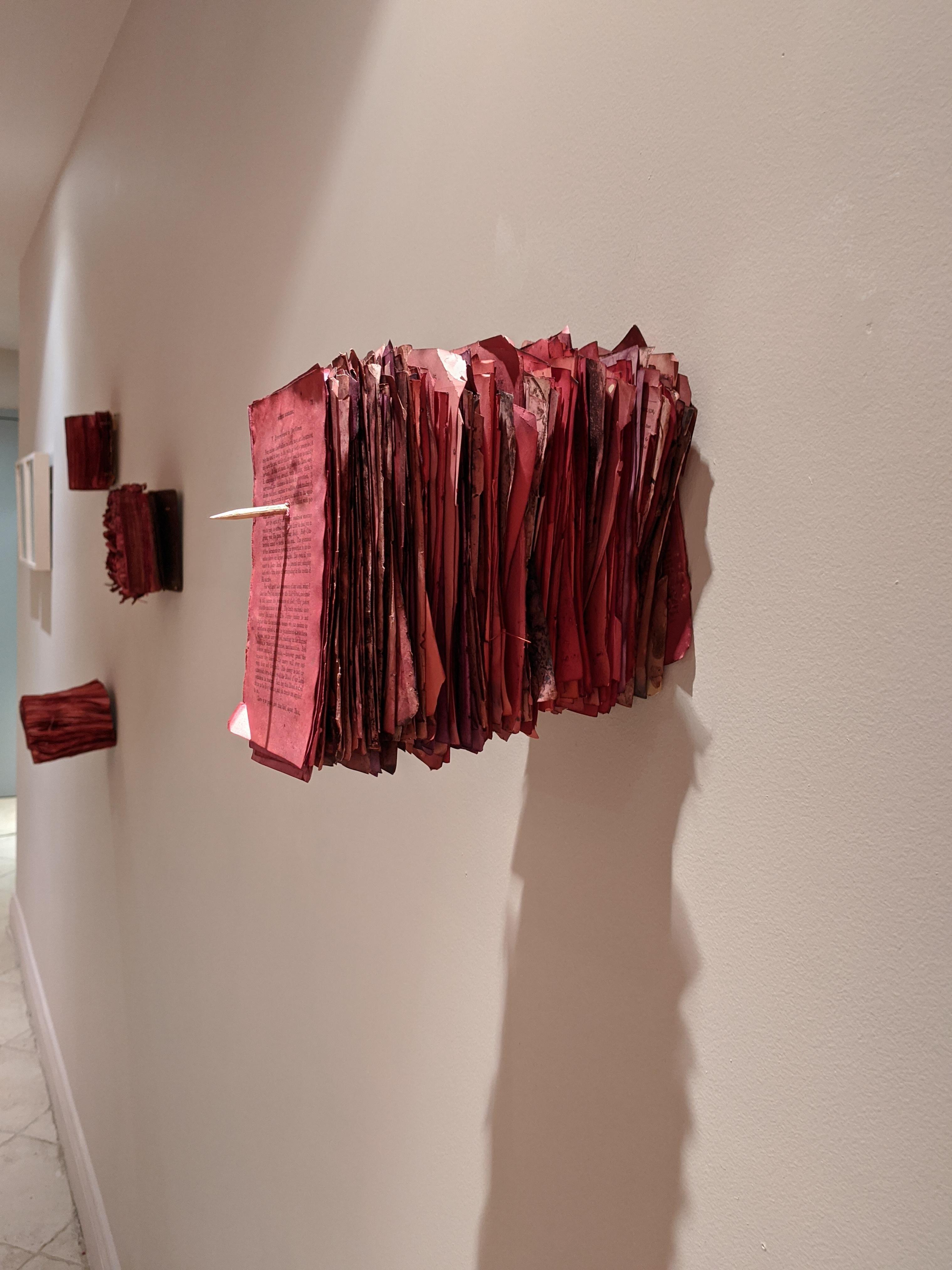 Patricia Miranda, Florilegium Series, 2016, cochineal dyes, antique books, pearl