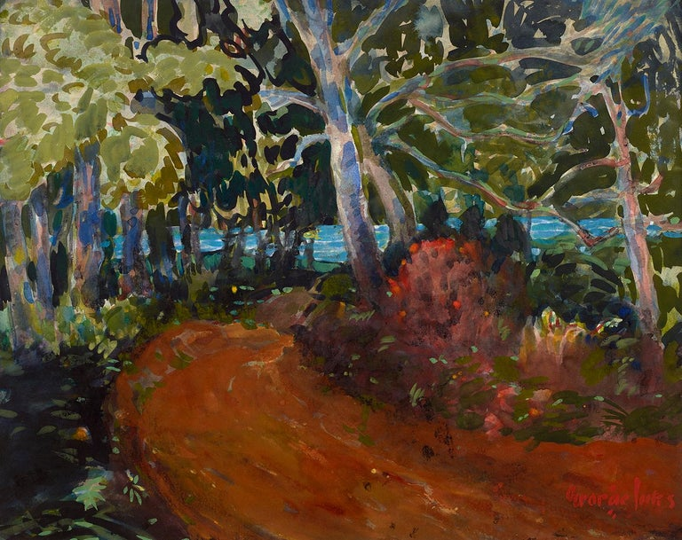 George Luks Landscape Art - Road to the Water