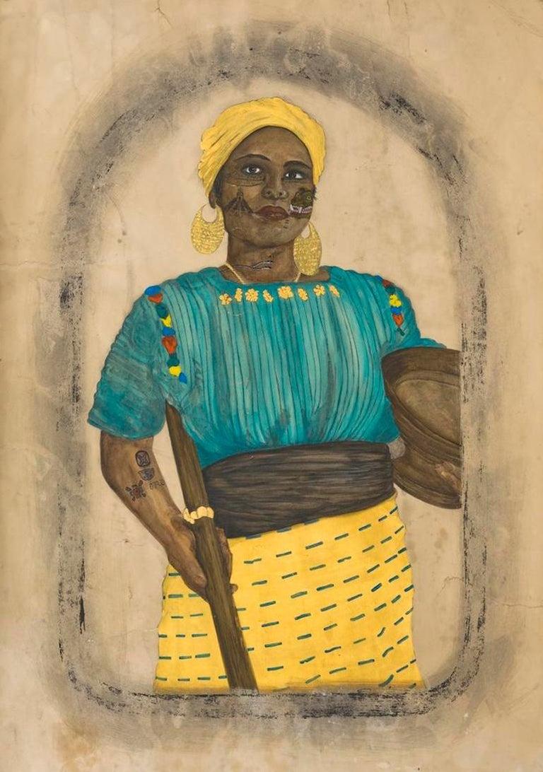 Umar Rashid (Frohawk Two Feathers) Figurative Art - Duchess of Guatemala