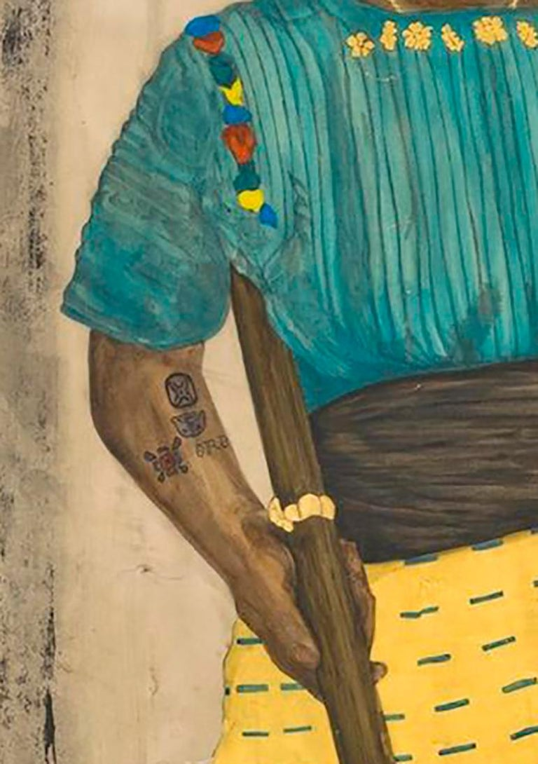 Duchess of Guatemala - Beige Figurative Art by Umar Rashid (Frohawk Two Feathers)