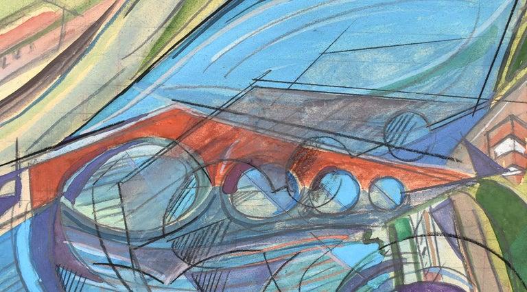 UBERTO BONETTI 1909-1993 Viareggio 1909-1993 Viareggio (Italian)  Title: The Devil's Bridge,Lucca, Tuscany [Maddalena Bridge]  Ponte del Diavolo [Ponte della Maddalena], ca. 1930s  Technique: Signed Watercolour, Gouache and Pencil Drawing on Lined
