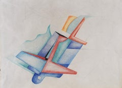 Untitled  Senza Titolo, Italian Futurism, Drawing