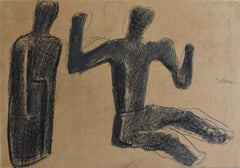 Two Figures  Due figure - Italian Art, Drawing, 20th Century