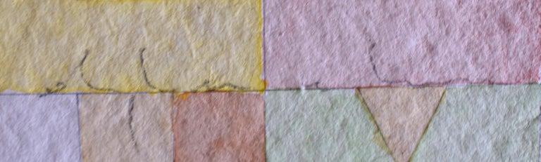 Killing Time, from: Nine Squares  Ammazzare il tempo: Nove Quadrati - Gray Abstract Drawing by Alighiero Boetti