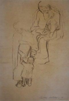 Women with Children  Frauen mit Kindern - German Expressionism