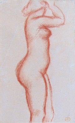Standing Nude  Nude with raised Arms