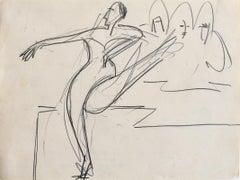 Dancer  Tänzerin - Original Pencil Drawing German Expressionism