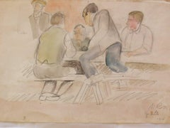 Granville - Men Sitting at a Table
