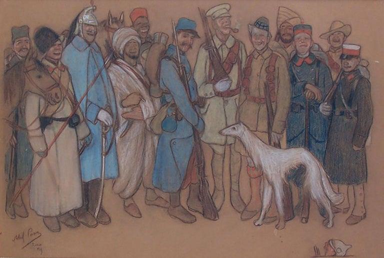 Abel Pann Figurative Art -  Soldiers in World War I