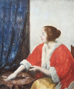 Portrait of a Girl Playing Cards