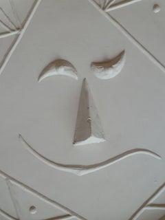 Geometric Face - Original Ceramic Plate Madoura Spanish