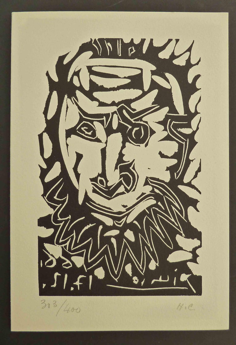 Greeting Card for Madoura Gallery, - Contemporary Art by Pablo Picasso