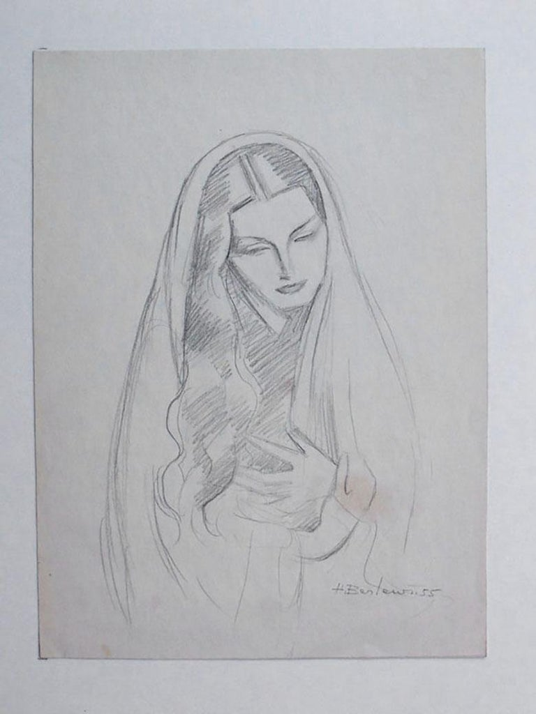 Woman with Long Hair - Art by Henryk Berlewi