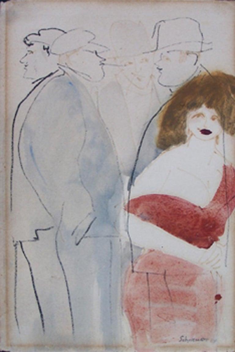 David Schneuer Figurative Art - Figures in Paris