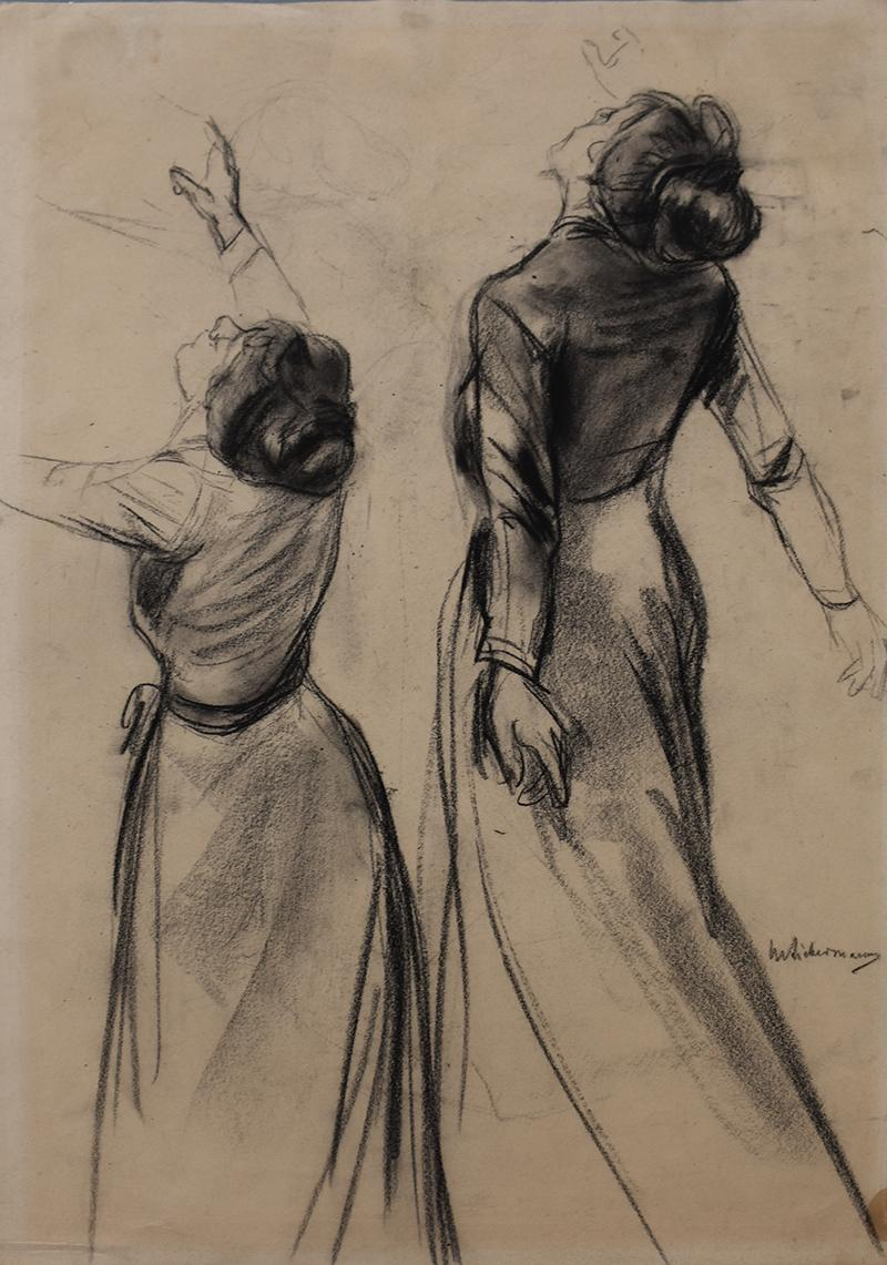 Double Study of a Woman's Back with outstretched Arms