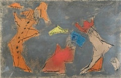 The Three Ghosts -  Watercolor German American Bauhaus