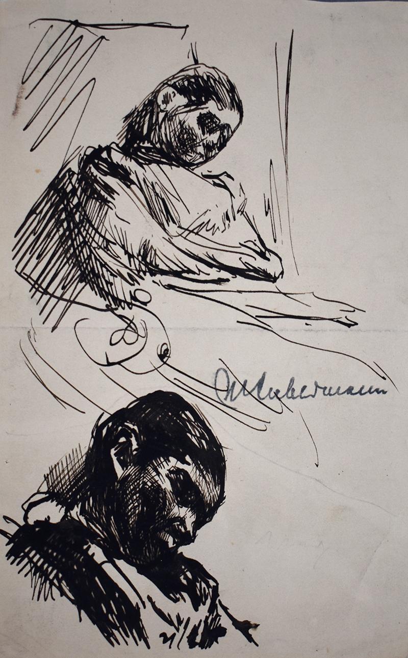 Sleeping – Double Portrait Martha Liebermann  Schlafende – Zwei studien von Mar