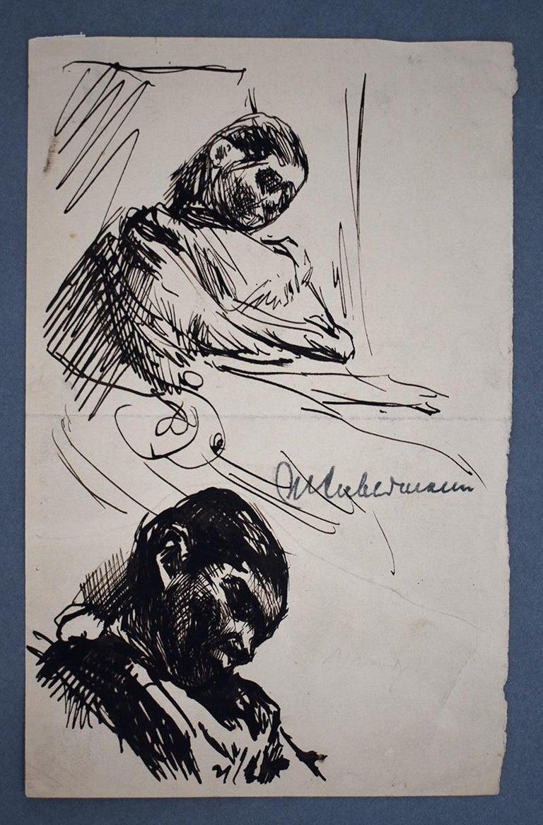 Sleeping – Double Portrait Martha Liebermann  Schlafende – Zwei studien von Mar - Art by Max Liebermann