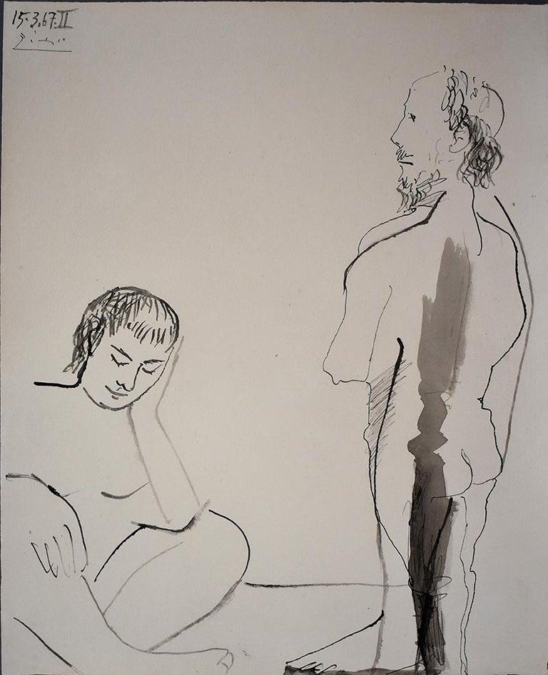 Pablo Picasso Figurative Art - Man and Woman  Homme et femme