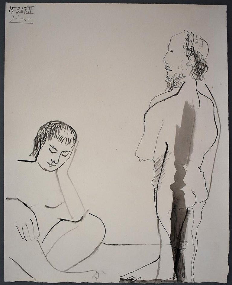 Man and Woman  Homme et femme - Art by Pablo Picasso