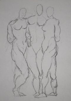 Three Standing Nudes  Trois nu debout, 1906
