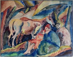 Three Figures and a Donkey - Hungarian Art
