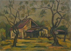 House in Landscape - Painting Russian Ukrainian Tradition