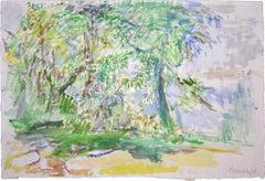 Garden  Garten - Signed Watercolour, Flowers, German, Switzerland, Austrian art