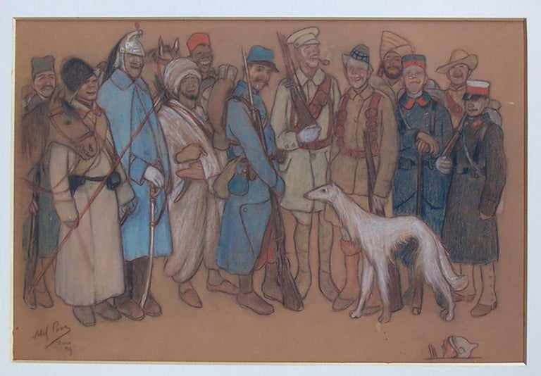 Soldiers in World War I - Art by Abel Pann