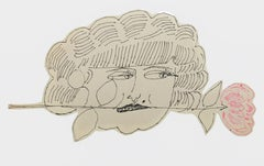 Portrait of Hermione Gingold - Ink Drawing Pop Art American