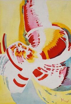 Untitled (Study for a Pochoir) - Abstract Czech Art