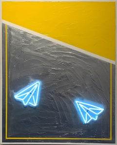 Neon Blue Airplanes