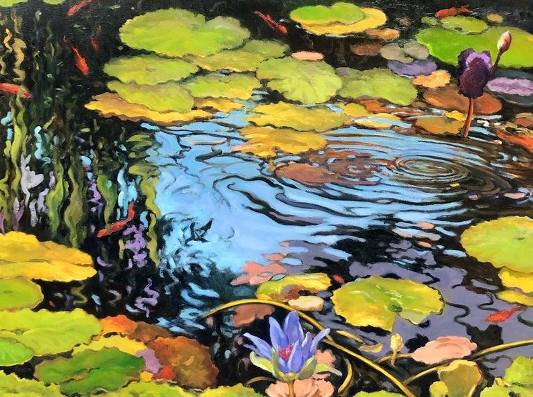David Peikon Landscape Painting - Go Fish