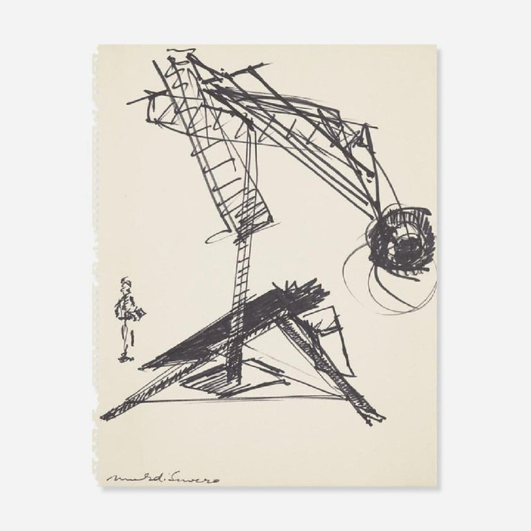 Mark di Suvero Abstract Drawing - Untitled