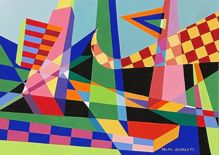 Rolph Scarlett Abstract Drawing - Untitled Geometric Abstraction