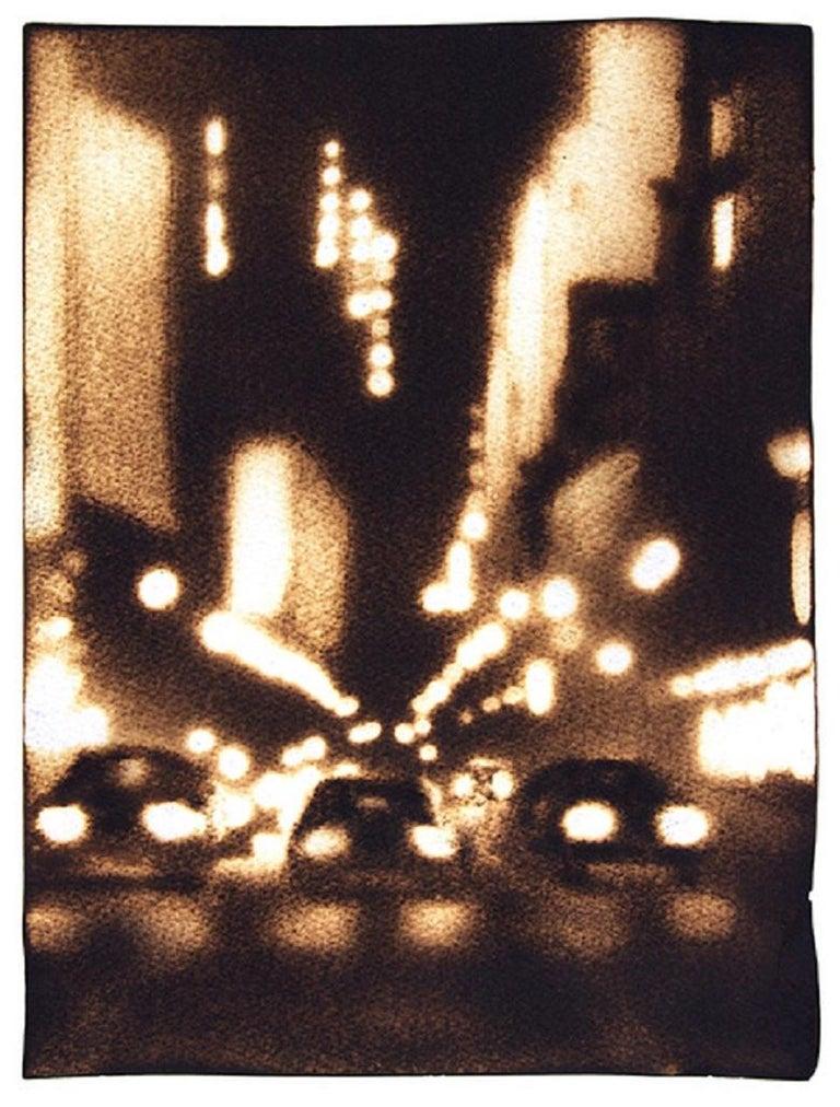 Paul Chojnowski Landscape Art - Three Lanes Downtown