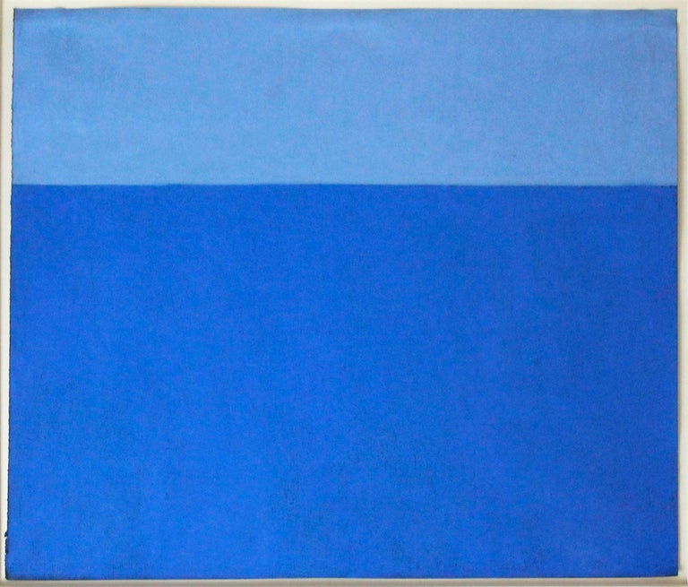 Harriet Zabusky-Zand Landscape Art - Motif in Blue/Indigo