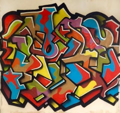 """Stars"", Graffiti on Canvas"