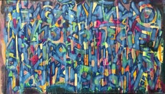 """Determination"", Text-based Abstract Expressionist Painting"
