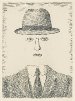 """""""Paysage de Baucis"""" René Magritte Etching"""