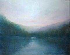 Untitled, Pastel River Landscape